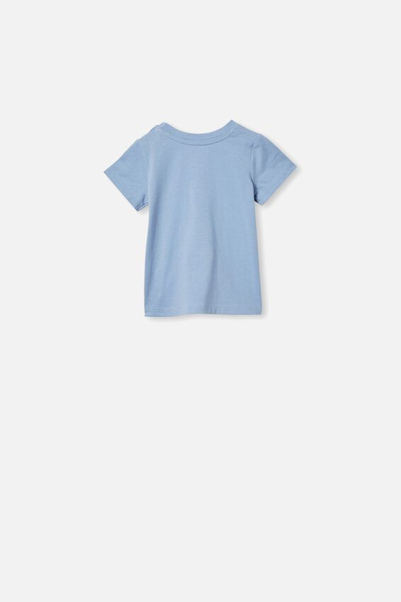 Jamie Short Sleeve Tee, POWDER PUFF BLUE/WE STAND TOGETHER