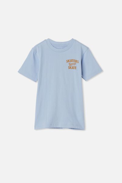 Max Skater Short Sleeve Tee, POWDER PUFF BLUE/SKATERS