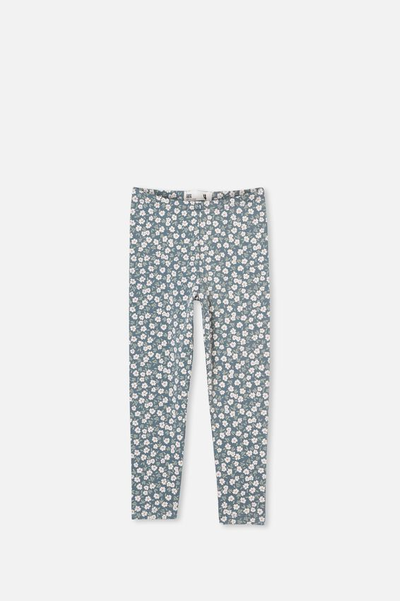 Huggie Leggings, DEEP POOL BLUE PAPERCUT DAISY