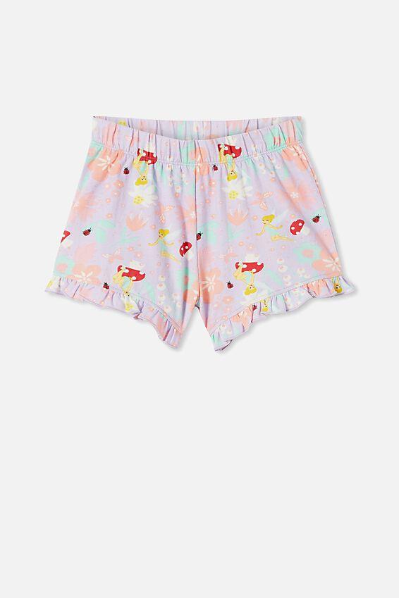 Stacey Short Sleeve Flutter Pyjama Set, LCN DIS TINKERBELL VINTAGE LILAC