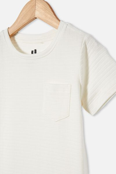 Louis Short Sleeve Texture Tee, RETRO WHITE/TEXTURE