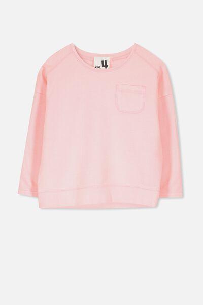 Luca Long Sleeve Top, PINK GRAPEFRUIT/GARMENT DYE
