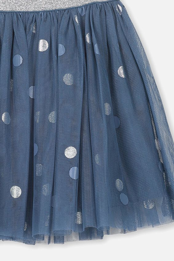 Trixiebelle Tulle Skirt, WASHED STEEL/SPOT
