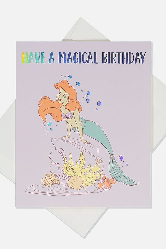 Licensed Birthday Gift Card, LCN DIS LITTLE MERMAID MAGICAL BIRTHDAY