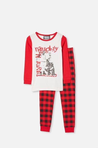 Ethan Long Sleeve Pyjama Set, LCN NAUGHTY BY NATURE VANILLA