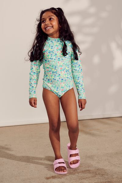 Lydia One Piece, DITSY FLORAL BEACH GLASS