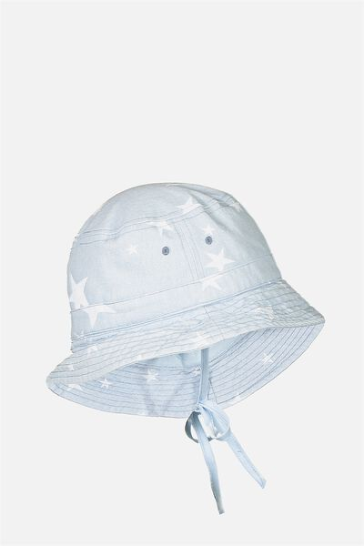 Kids Bucket Hat, CHAMBRAY/STAR