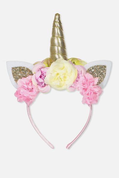 Unicorn Headband, ROSE/GLITTER