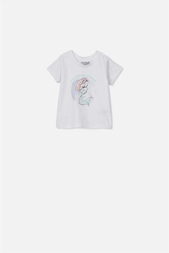 The Little Mermaid Short Sleeve Baby Tee, LCN DIS WHITE ARIEL