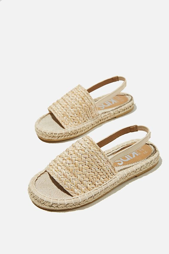 Tayla Woven  Espadrille, NATURAL