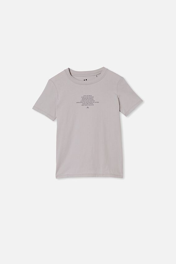 Max Skater Short Sleeve Tee, WINTER GREY/NEVER MIND THE CHAOS