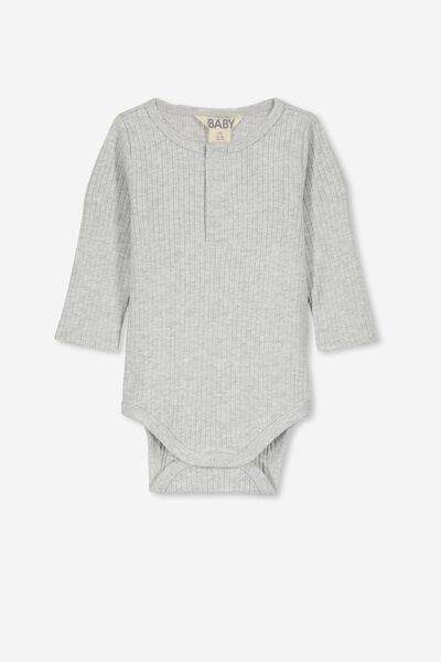 Ls Button Bubbysuit, CLOUD MARLE
