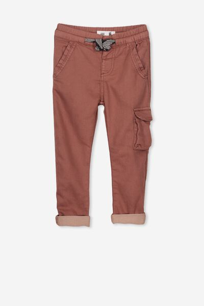 Kieran Cargo Pant, RUSTY BROWN