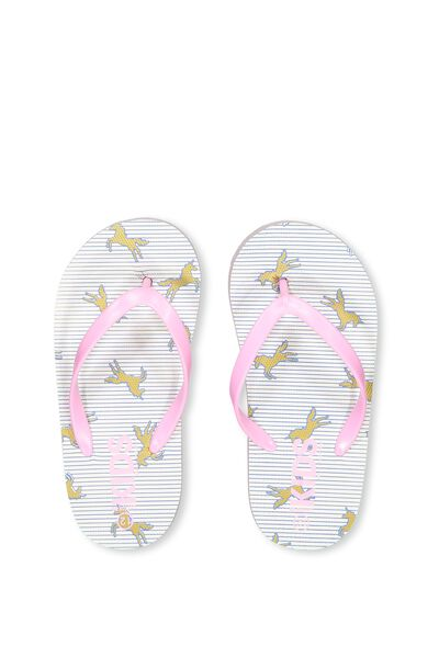 Printed Flip Flop, G UNICORN STRIPES