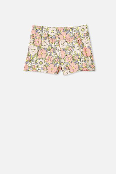 Callie Short, LIGHT PINK / VINE LEAF FLORAL