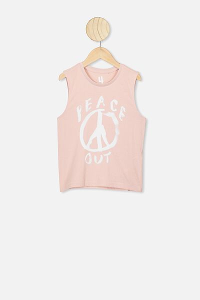 Otis Muscle Tank, ZEPHER PINK/PEACE OUT