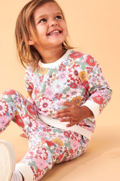 Bobbi Sweater, VANILLA/CALI PINK RETRO FLORAL