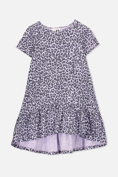 Joss Short Sleeve Dress, BABY LILAC/ANIMAL