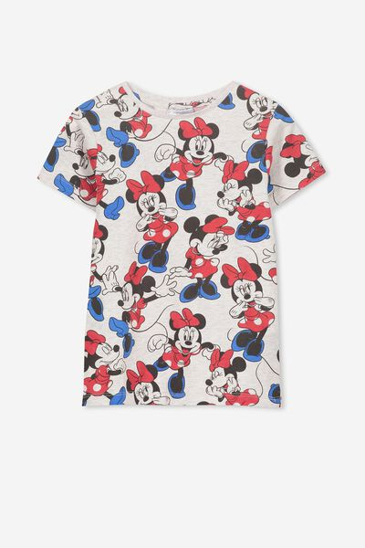 Lux Short Sleeve Tee, LCN DIS SUMMER GREY MARLE/MINNIE YDG
