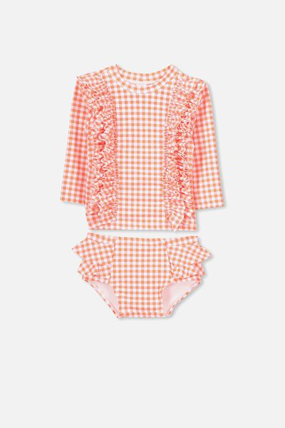 Breeze Bay 2 Piece, ORANGE BANG BANG/GINGHAM