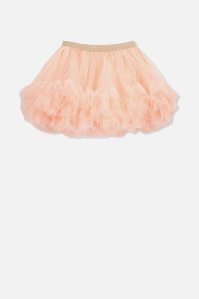 Trixiebelle Tulle Skirt, BRUSHED PEACH/RUFFLES