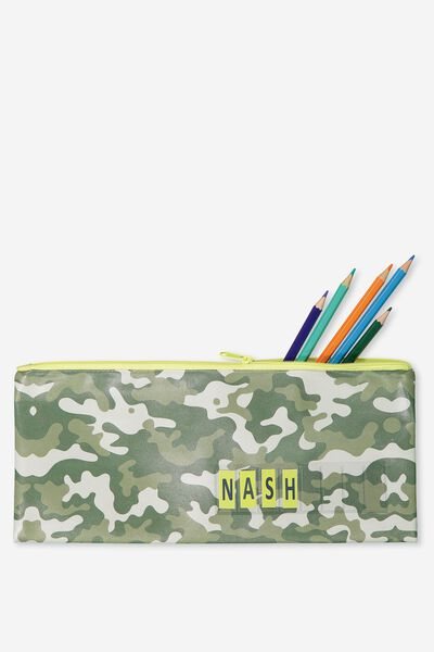 Pencil Case Name It, GREEN CAMO