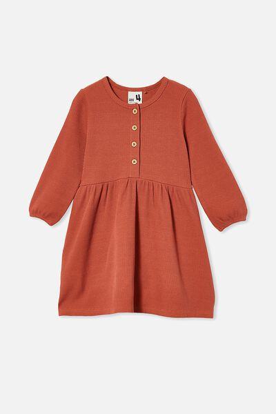 Payton Long Sleeve Dress, CHUTNEY