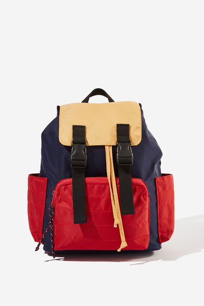 Utility Back Pack, NAVY/COLOURBLOCK