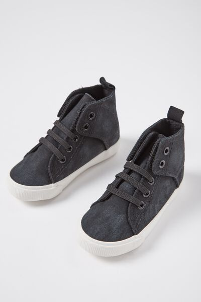 Mini Vintage Hi Top, WASHED BLACK
