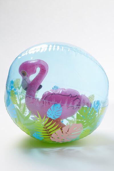 Kids Character Inflatable Ball, PINK FLAMINGO