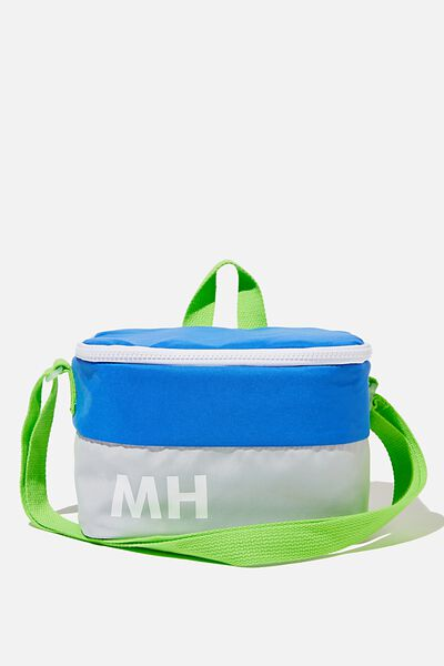 Kids Lunch Bag - Personalised, RETRO BLUE/GREY