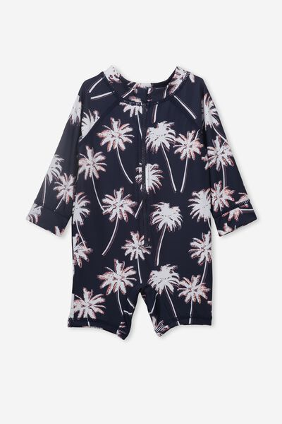 Harris One Piece, INDIAN INK/TROPICAL PALMS
