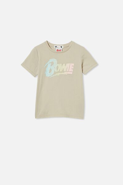 License Short Sleeve Tee, LCN PER RAINY DAY/BOWIE GRADIENT