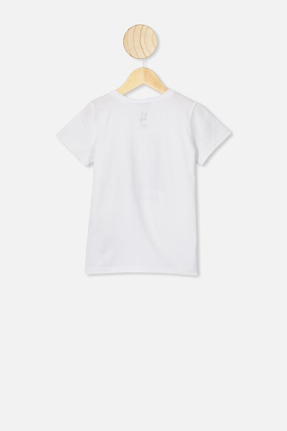 Short Sleeve License1 Tee, LCN DIS WHITE/RATATOUILLE