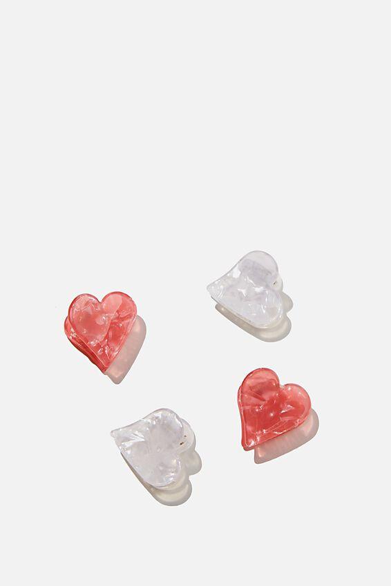 Hair Clip  - Claw, HEARTS