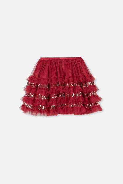 Trixiebelle Dress Up Skirt, BERRY/RUFFLES