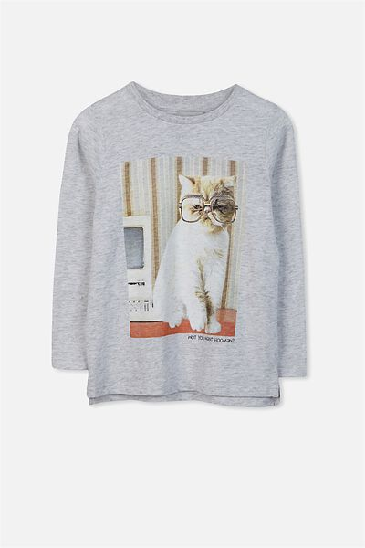 Penelope Long Sleeve Tee, SUMMER MARLE/CAT/DROP