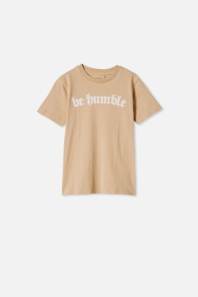 Max Skater Short Sleeve Tee, SEMOLINA/ BE HUMBLE