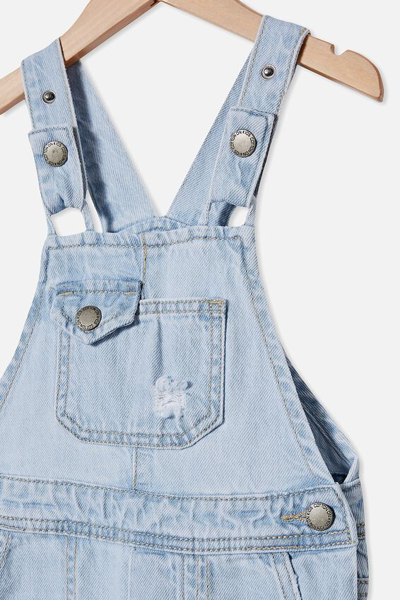 Ginnie Slouch Overall, BLEACH WASH/RIPS