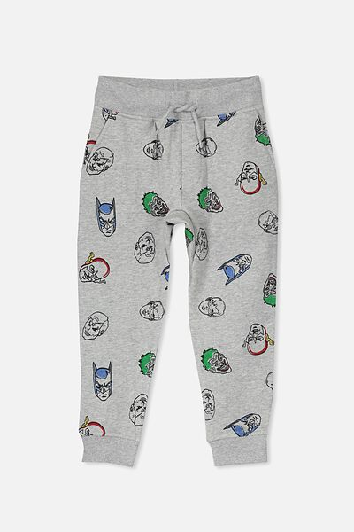 Licence Trackpant, LIGHT GREY MARLE/JUSTICE LEAGUE