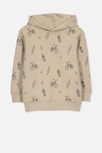 Liam Hoodie, BEIGE/BIKES AND BOLTS
