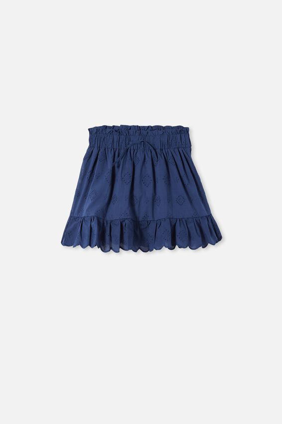 Lana Skirt, INDIGO/BRODERIE NEW