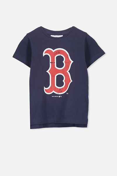 Girls Sports License Tee, NAVY/BOSTON RED SOCKS