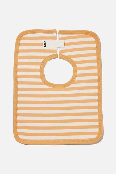 The Square Bib, HANNAH STRIPE APRICOT SUN/VANILLA