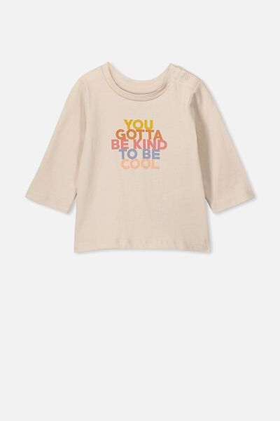 Jamie Long Sleeve Tee, RAINY DAY/YOU GOTTA BE KIND TO BE COOL