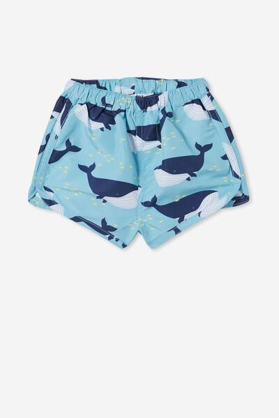 Steve Swim Short, BLUE ICE/WHALE OF A TIME