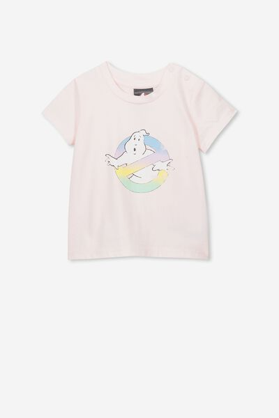 Jamie Short Sleeve Tee, LCN SO BARLEY PINK/GHOSTBUSTERS