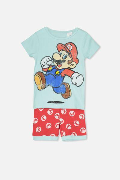 Joshua Short Sleeve Pyjama Set, LCN MARIO BROS