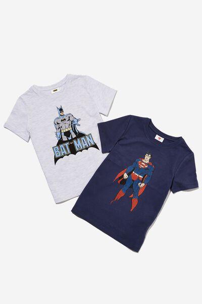 Multipack Short Sleeve License Tee Two Pack, BATMAN/SUPERMAN
