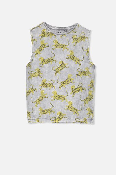 Otis Muscle Tank, MUSCLE GREY SNOW WASH/TIGER